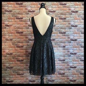 Free People Dresses - Free People Metallic Lace Fit N Flare Mini Dress
